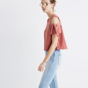 XS Madewell Cold Shoulder Top